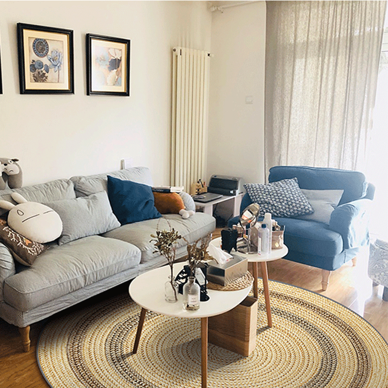 Inde Mandala rétro ethnique salon rond tapis enfants chambre anti-dérapant rond tapis maison maroc plancher tapis porte chaise - 2