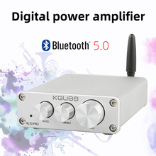 2020 Nobsound Mini BL50PRO Bluetooth 5.0 HiFi Power Amplifiers Stereo Home Audio Digital Sound Amplifier With Treble Bass nobsound ms 50d class a el34 vacuum tube amplifier stereo power amp with bluetooth