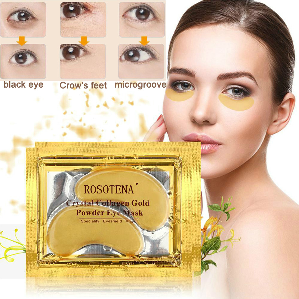 5 Pairs Wholesale New Crystal Gold Powder Gel Collagen Eye Mask Masks Sheet Crystal Patch Anti Wrinkle Face Mask
