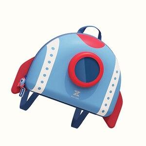 Image 3 - NOHOO Mochila para niños pequeños, morral escolar con diseño de cohete en 3D de dibujos animados, para guardería