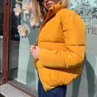 Winter Verdicken frauen Kurze Parkas Mantel Solide Stehkragen Warme Parka Weibliche Baumwolle Gepolsterte 2019 Mode Puffer Jacke Für frauen