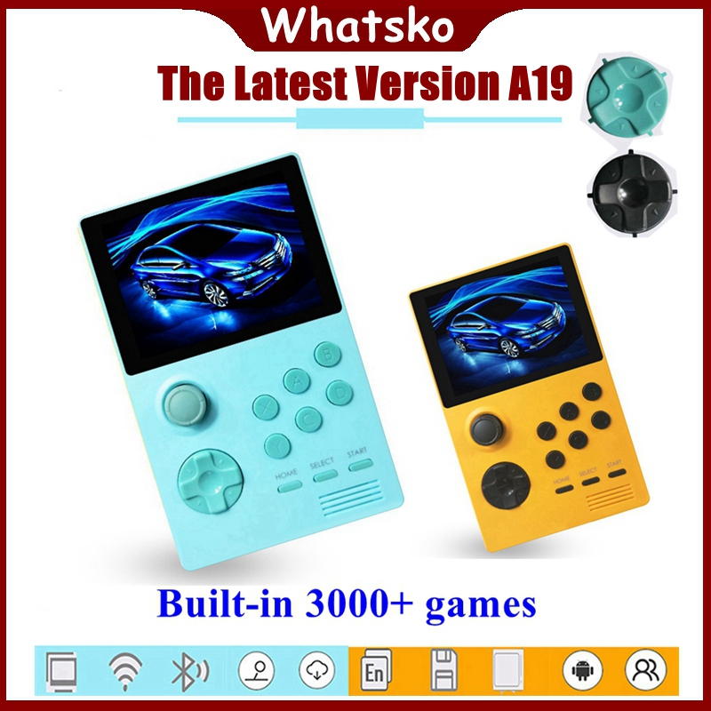 Whatsko A19 Pandora's Box Android Mini Video Game Console Supretro Portable Retro Handheld 3.5 IPS Screen Built-in 3000 + games