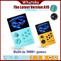 Whatsko A19 Pandora's Box Android Mini Video Game Console Supretro Portable Retro Handheld 3.5 IPS Screen Built in 3000 + games