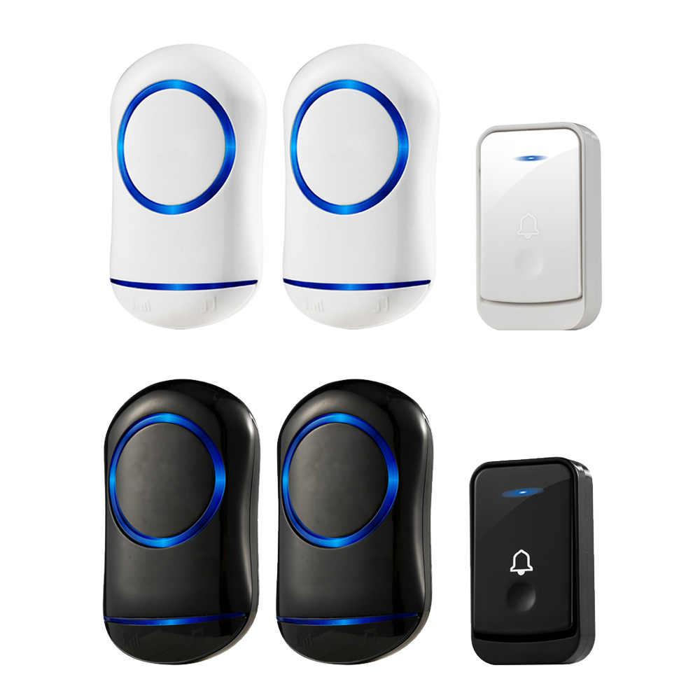 Прочный и надежный домашней безопасности Беспроводной дверной звонок Сигнализация на входе 2Plug-in сверхнизкой Мощность 85-260V