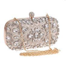 Для женщин Роскошные Тяжелые Стиль вечерняя сумочка; BS010 Украшенные стразами и шипами бриллиант жемчуг бисером сумочка, клатч для Вечерние Банкетный леди
