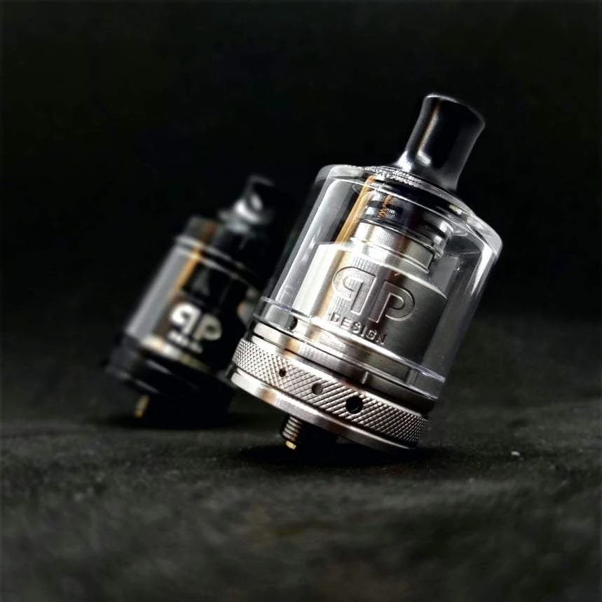 Qp Design Gata Rta Mtl Dtl 24mm 4ml And 2ml Top Filling Single Coil RTA Double Airflow Rings Drips VS Kayfun Dvarw Mtl Rta