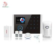 Интеллектуальная автоматическая беспроводная охранная сигнализация Wi-Fi+ GSM+ GPRS Поддержка APP управления для дома и личного