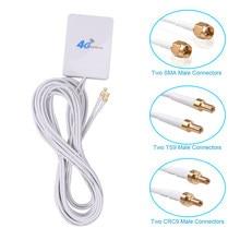 Antena externa aérea do modem do roteador de bundwin 2m 3g 4g lte com cabo do conector ts9/crc9/sma para a antena de huawei zte 4g lte