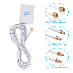 Bundwin 3M 3G 4G LTE Router Modem Aerial External Antenna with TS9 / CRC9 / SMA Connector Cable for Huawei ZTE 4G LTE Antenna