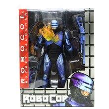 Около 7 дюймов Аниме NECA 1987 RoboCop вариант фигурку фильм ограничено синий Ver. RoboCop ПВХ фигурка модель игрушки для коллекции