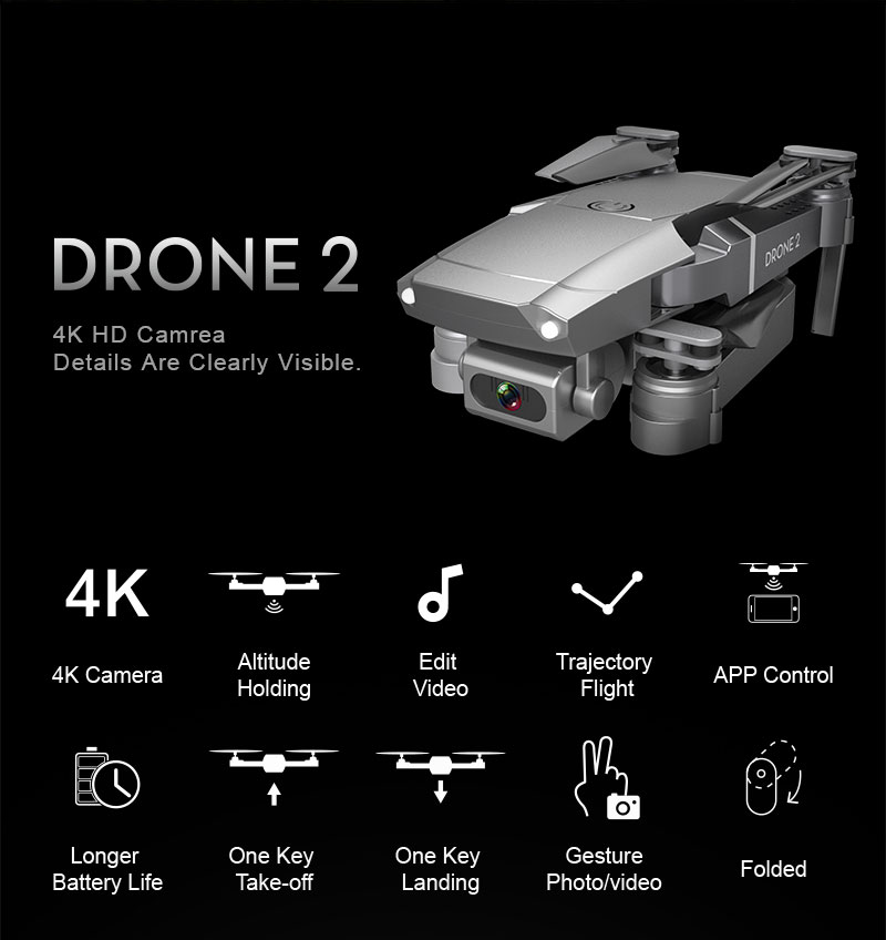E68 Foldable Drone with 4K HD Selfie Camera and WiFi for Wide Angle Video Shooting 8