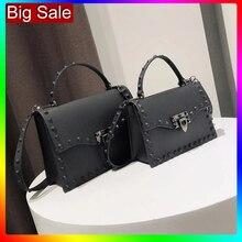 Jelly Bags For Women Solid Flap Fashion Messenger Bag Rivet Women Shoulder Bag Small Big Lady Handbags High Quality Bags Womens