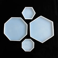 Hexágono octógono diy cristal epóxi molde jóias pingente de cola epoxy molde jóias decoração molde
