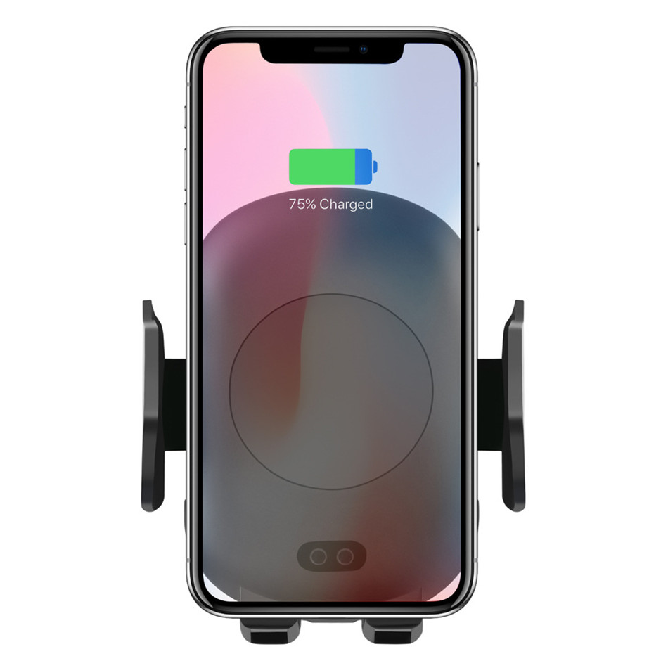 Qi Wireless Car Charger Phone Holder 10W Fast Charging Infrared Sensor Auto Clamping for iPhone X XS XR Max 8 Samsung S8 S9 S10Car Chargers   -