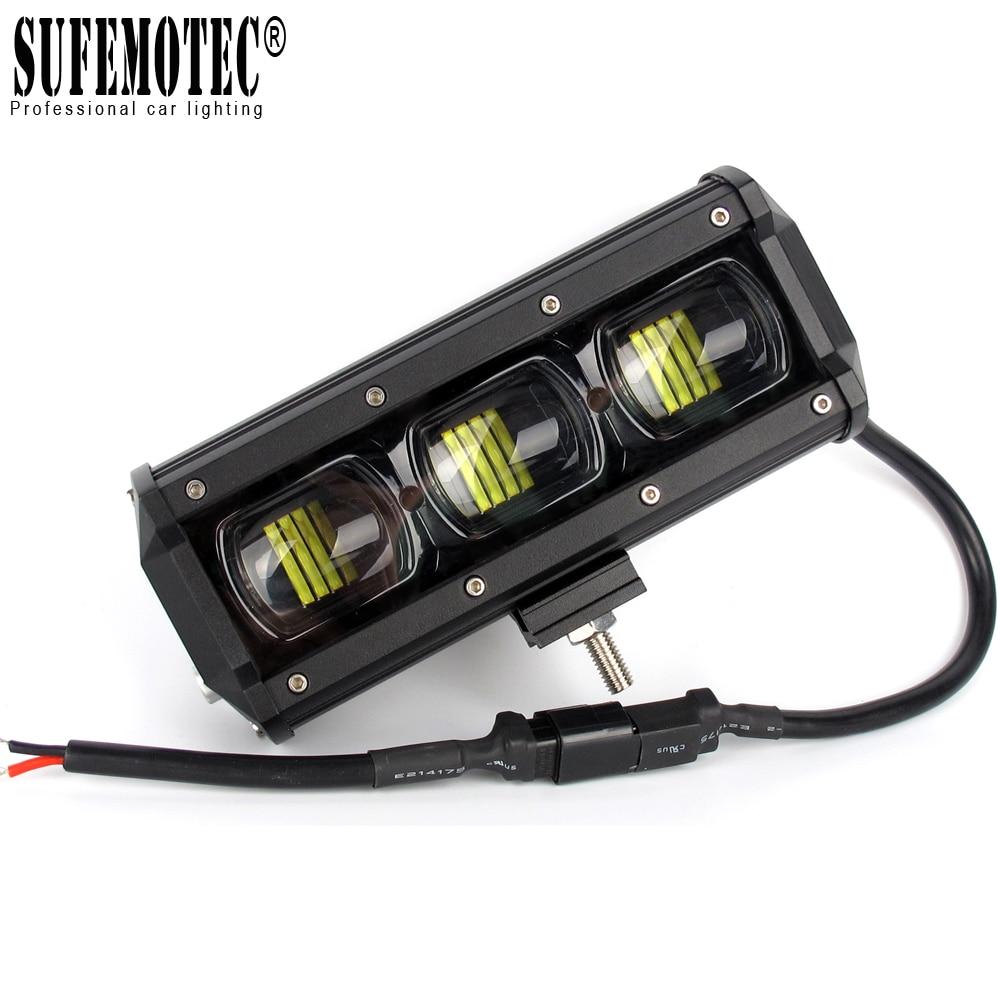6D Lens 4x4 Off Road LED Light Bar Single Row Led Barra Light For Offroad 4WD SUV Boat Truck ATV UAZ 12V 24V Driving Work Lights