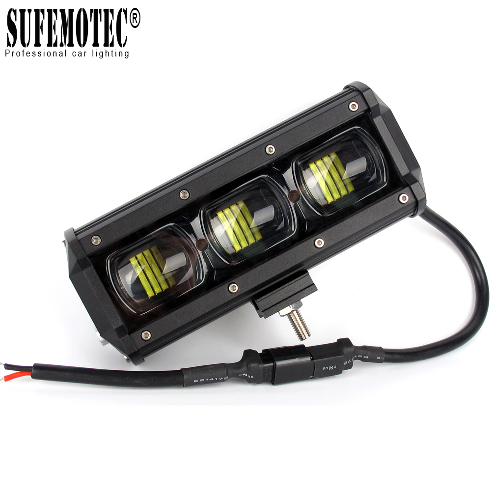 6D Lens 4x4 Off road LED Light Bar Single Row Led Barra Light For Offroad 4WD SUV Boat Truck ATV UAZ 12V 24V Driving Work Lights