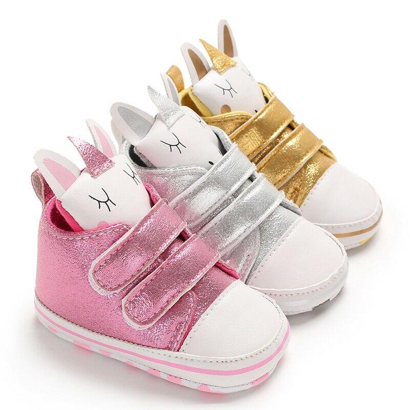 2019 Brand New Newborn Kid Baby Girl Boy Cartoon Unicorn Snow Shoes Winter Soft Sole Prewalker Crib Plush Boots First Walkers