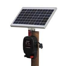 Zasilany energią słoneczną zestaw elektryczny ogrodzenia Energizer ładowarka wysokiego napięcia sterownik impulsów zwierząt drób Farm Shepherd