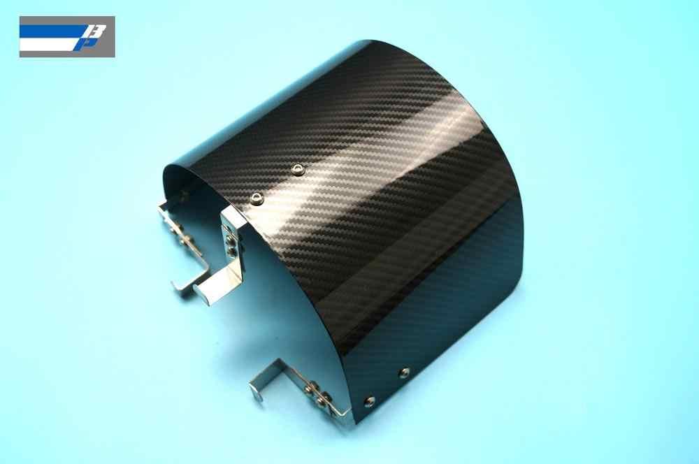 """Staal Materiaal Met Carbon Fiber Coating Luchtfilter Hitteschild Voor 2.25 """"Tot 3.5"""" Cone Filter"""