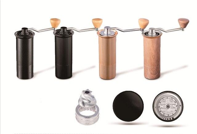 HAANZHALL 50MM 수동 커피 그라인더 스테인레스 스틸 버 그라인더 원추형 Coffe 콩 밀러 수동 커피 밀링 머신