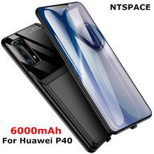 NTSPACE Battery Charger Cases for Huawei P40 Pro External Battery Case 6000mAh Power Bank Cover for Huawei P40 Charging Case ntspace 6500mah for huawei honor 9x pro battery charger cases backup power bank shockproof cover for huawei honor 9x power case