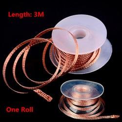 2mm 2/.25M Length Desoldering Braid Welding Solder Remover Wick Wire Lead Cord Flux  Repair Tool