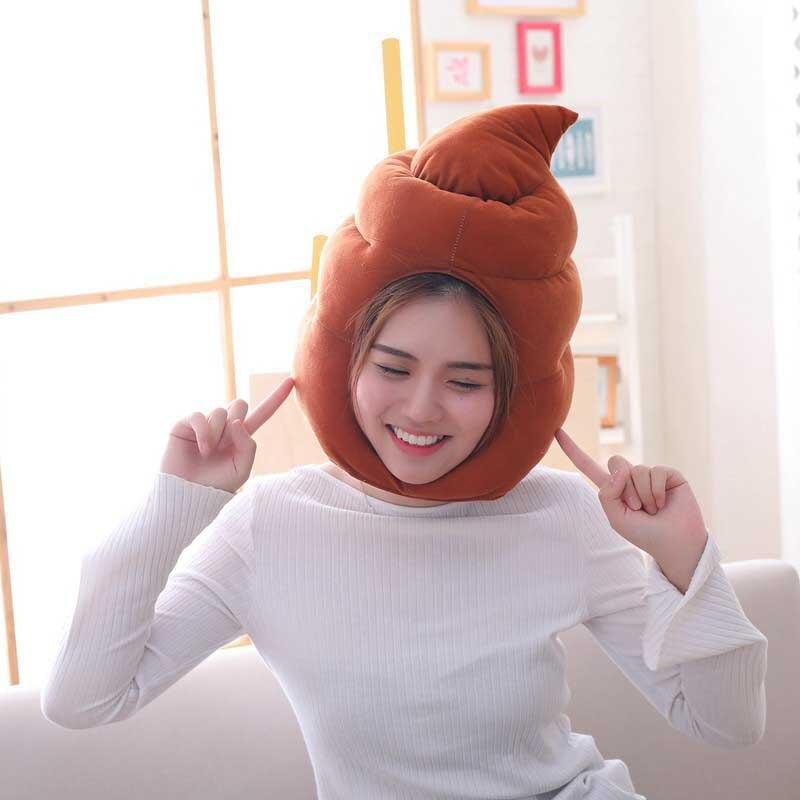 Créatif Anime film merde chaude excréments COS drôle chapeau en peluche jouets en peluche chapeaux en peluche pour enfant