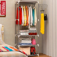 Simple Coat Rack Floor Clothes Rack Creative Clothes Rack Bedroom Shelf Foyer Storage Iron Art Clothes Hanger Portable Power
