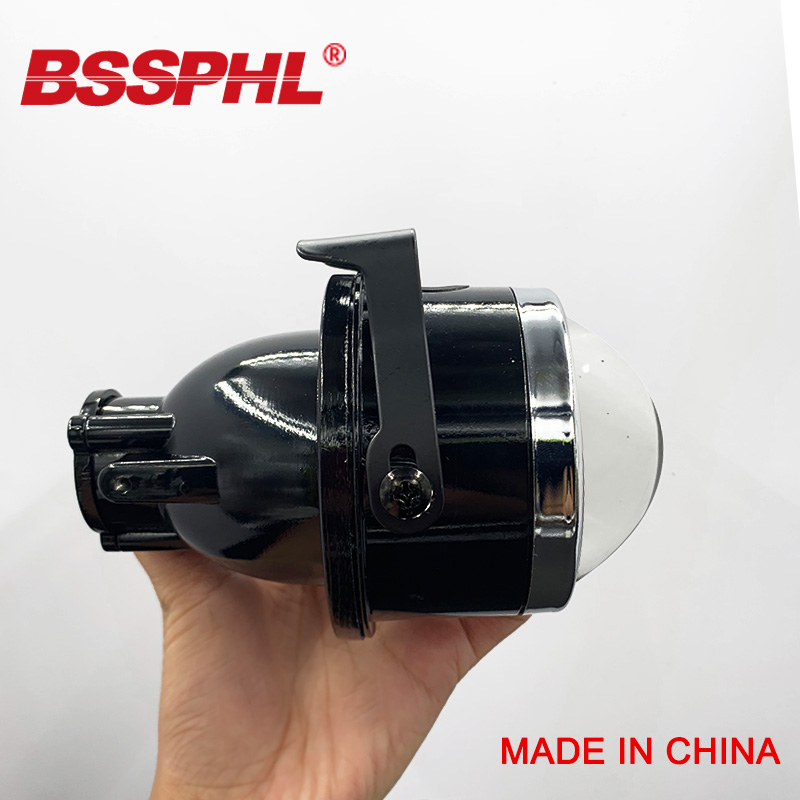 BSSPHL 3.0 Inch Bi-Xenon HID Auto Car-Styling Fog Light Projector Lens Hi/Lo Beam Universal Fog Lamp Car Retrofit H11 HID Bulbs