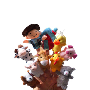 10pcs / set models in the world of classic nursery rhymes story even finger Old Macdonald had a farm toys brinquedos