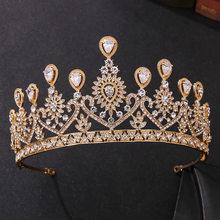 Barroco Vintage oro Pavo Real de cristal nupcial Tiaras CZ coronas de concurso diadema novia diadema accesorios para el cabello de boda