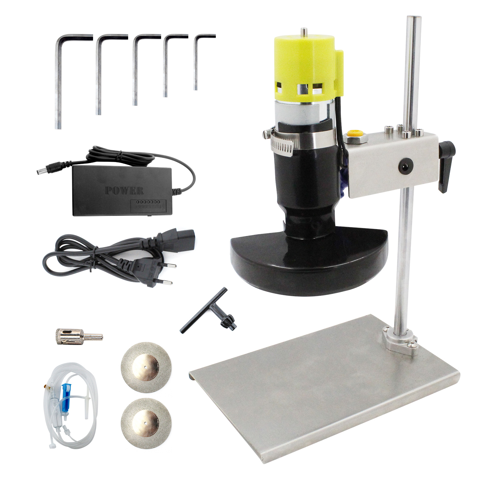 Electric Bottle Cutter Glass Cutting Tool Cutting Machine with 7 Speeds for DIY Flowerpot Round Oval Bottle Craft 6000rpm 12~24V