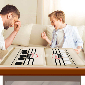 Head-to-Head Wooden Desktop Hockey Table Game for Kids and Adults, Portable Hock Q1JE image