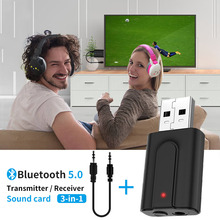 สำหรับAUXบลูทูธทีวีPC USBตัวรับสัญญาณเพลงอะแดปเตอร์Dongleสำหรับโทรศัพท์ลำโพงเครื่องเสียงรถยนต์รุ่น