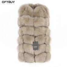 OFTBUY Chaleco de piel de zorro Real para mujer, chaqueta de invierno sin mangas, abrigo de piel Natural, chaleco calentador, ropa de calle cálida gruesa