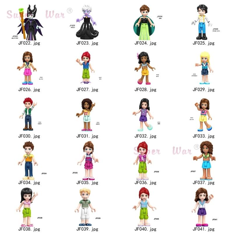 F022 F041 модели для девочек, фигурки, аксессуары для головы, строительные блоки, игрушки для друзей, для детей, серия 156|Блочные конструкторы|   | АлиЭкспресс