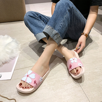 Summer Slides Cartoon Women Slippers Cute Animal Dog Sheep Home Slippers Slip on Slide Sandals Women Shoes Bothe Flip Flops 4