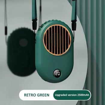 Mini ventilador portátil de refrigeración de mano para colgar en el cuello, ventilador pequeño para deporte, ventilador portátil para estudiantes, ventilador eléctrico para actividades al aire libre