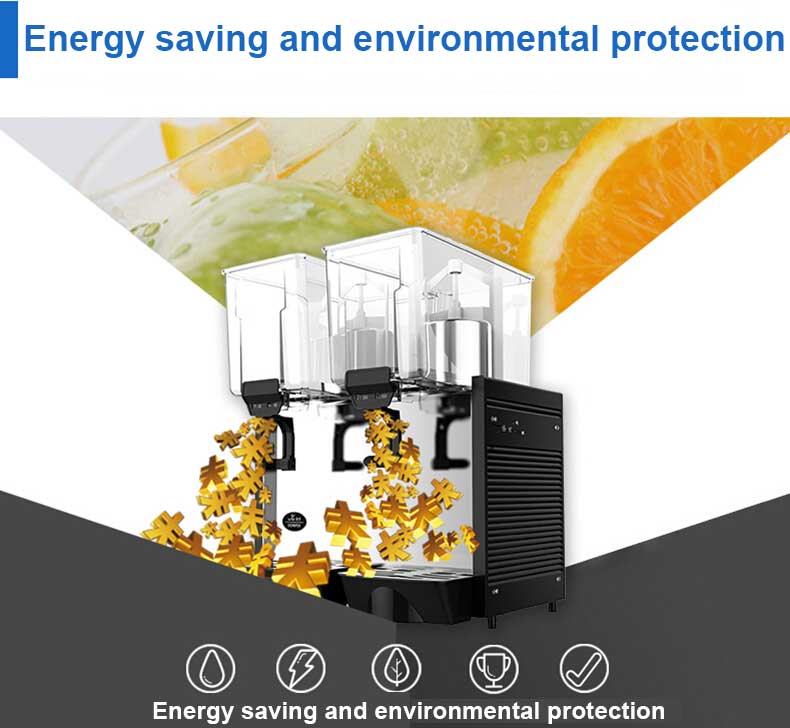 15LSelling Double Tank Cold  Juicer Dispenser Machine Cold Drink Machine Juice Vending Machine Cold Drink Dispenser