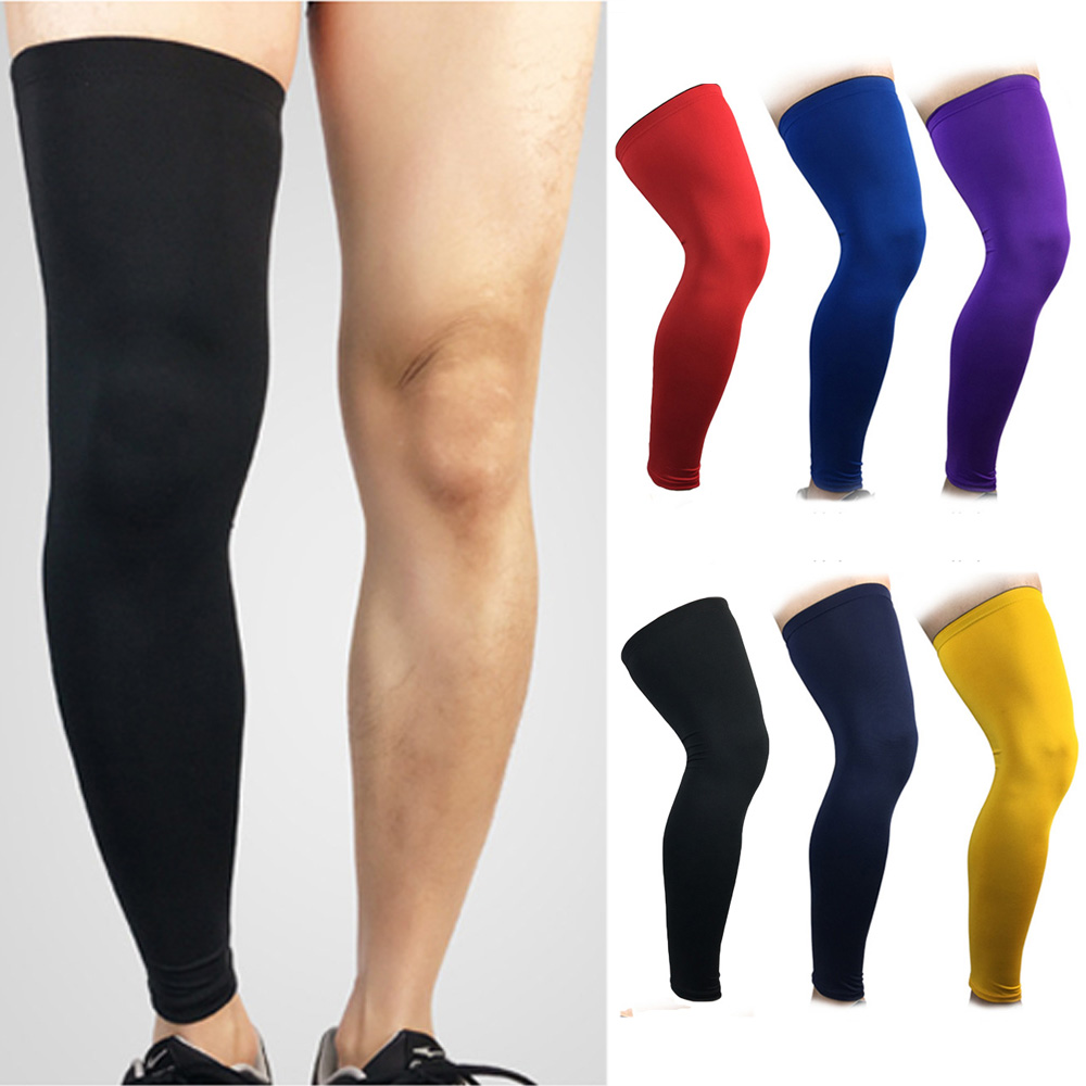 Support Knee Pad Breathable Basketball Running Protection Sport Leg Socks Sleeve