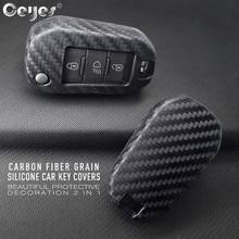 Ceyes 자동차 액세서리 스타일링 보호 쉘 커버 케이스 시트로엥 c2 c3 c4 c4l c5 c6 푸조 208 207 308 rcz 2 3 버튼