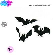 Happy Halloween Dies Metal Cutting Scrapbooking bat set Craft Die cut Stencils for DIY Paper Card makingm stamp and dies