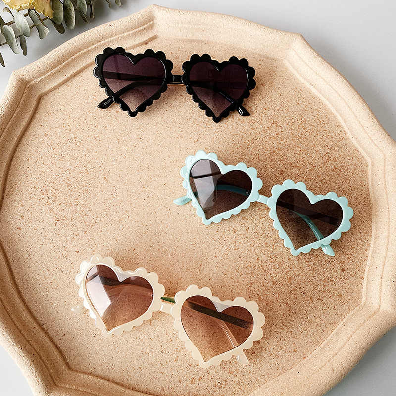6 Colors Infant Boy Girl Sunglasses Solid Love Pattern Sunglasses Sun Glasses Kid Eyeglasses Beach Eyewear