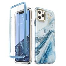 "I BLASON para iphone 11 pro case 5.8 ""(2019) cosmo capa amortecedora de mármore, brilhante de corpo inteiro com protetor de tela embutido"