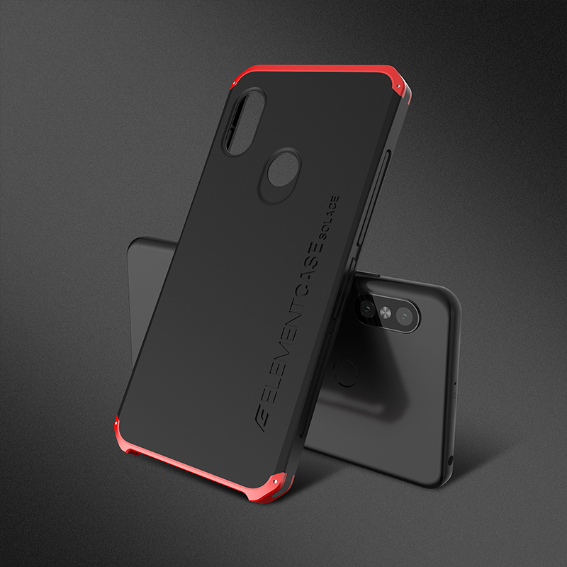 Case Cover For Xiaomi Redmi Note 5 Shockproof Element Aluminum Metal Frame Armor Hard PC Back Cover For Redmi Note 5 Phone Case