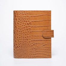 100% Genuine Leather A5 Rings Notebook Diary Planner Croc Grain Cowhide Leather Journal Agenda Organizer Business Office 365