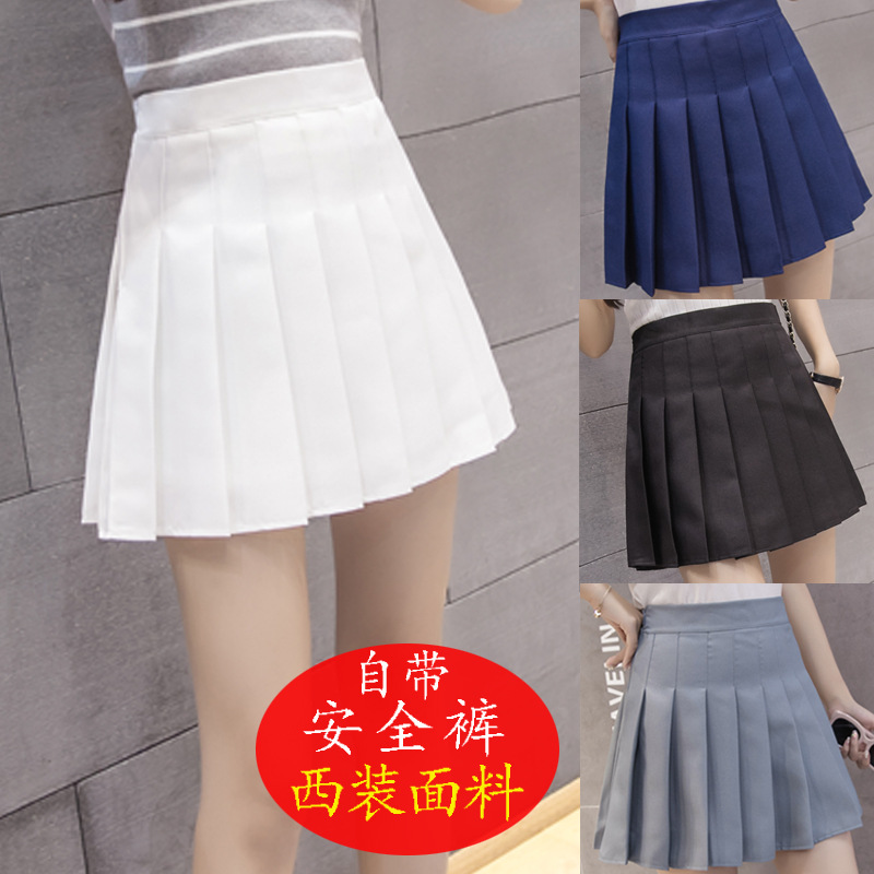 Korean-style New Style High-waisted Half-length Short Skirt College Style A- Line Plaid Pleated Skirt Tennis Skirt Women's