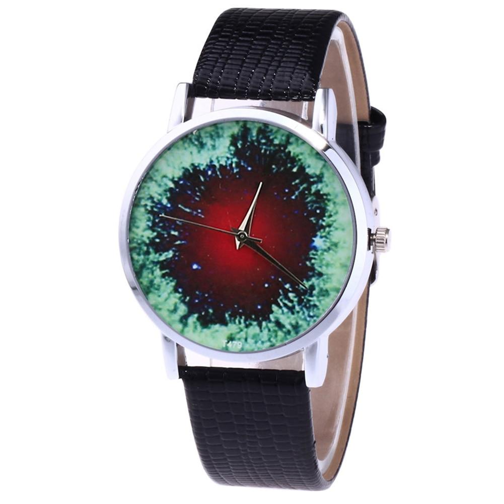 Fashion Quartz Watch Mens Womens Couple Electronic Watch Printed Novelty With PU Wrist Band LXH