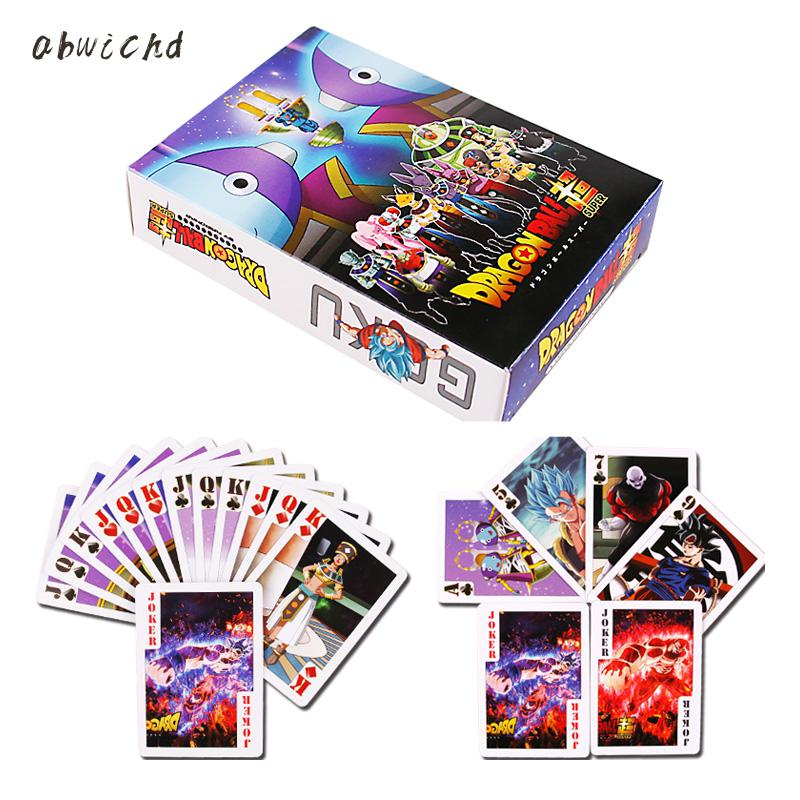 55PCS Dragon Ball Super Ultra Instinct Goku Jiren Poker Game Action Toy Figures Commemorative Edition Collection Cards