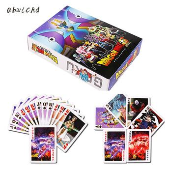 55PCS Dragon Ball Super Ultra Instinct Goku Jiren Poker Game Action Toy Figures Commemorative Edition Collection Cards цена 2017